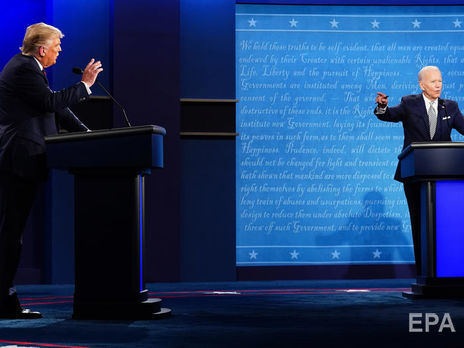 Трамп и Байден перебивали друг друга на дебатах 29 сентября