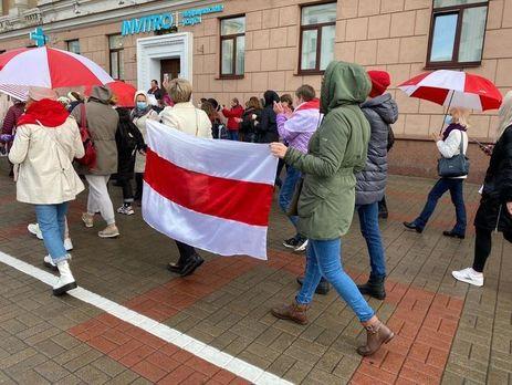 В субботу в Минске проходил женский марш