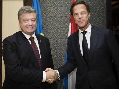 Порошенко ипремьер Нидерландов обсудили безвиз Украины иЕС итрагедию МН17