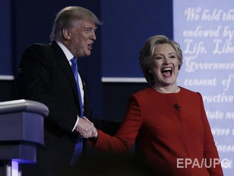 Опрос: Клинтон популярнее Трампа на5%