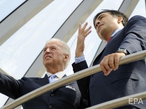 Саакашвілі привітав Байдена з обранням на пост президента США