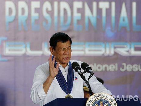 Филиппинский президент пригрозил порвать военное соглашение сСША