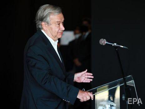 Гутерріш зазначив, що через кризу скоротилися потоки прямих іноземних інвестицій, фінансові операції, зокрема грошові перекази