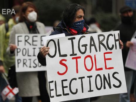 Опозиція у Грузії виходила на багатолюдні акції, заявляючи про фальсифікації під час виборів