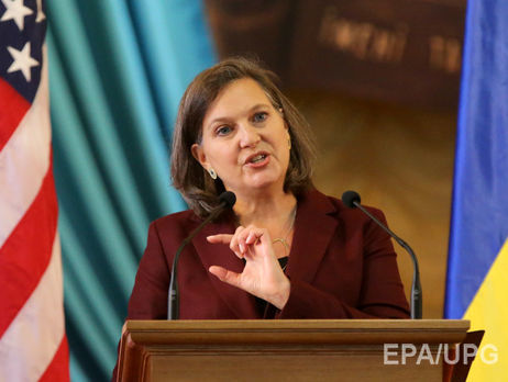 Нуланд иСурков обсудили отвод вооружений налинии разграничения— Донбасс