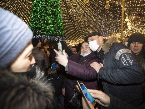Кличко 19 грудня провів церемонію запалювання вогнів на головній новорічній ялинці України