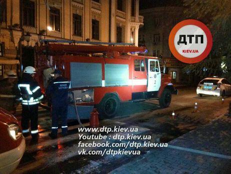 Вцентре столицы Украины ночью сгорел киоск сохранником