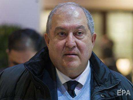 Президент Армении Саркисян госпитализирован в Лондоне. У него двусторонняя пневмония