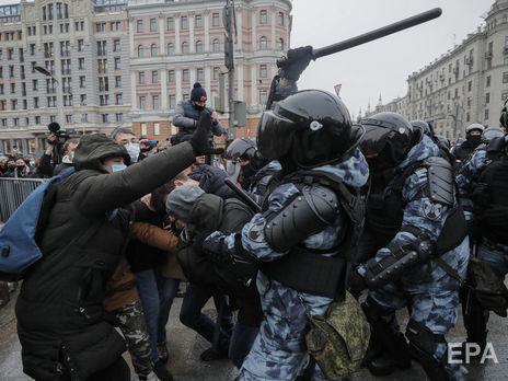 В Москве задержали активистов, вышедших на акции в поддержку оппозиционера Навального