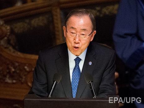 Пан ГиМун обвинил президента Сирии в погибели сотен тыс. людей