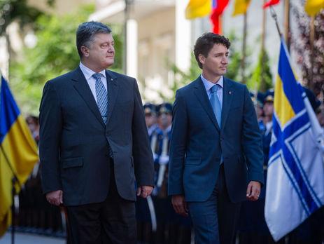 Порошенко предложил Трюдо синхронно ратифицировать соглашение озоне свободной торговли