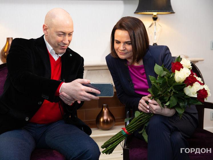 Лукашенко, муж, угрозы, возвращение в Минск, Путин, Навальный, Крым. Интервью Гордона с Тихановской. Трансляция