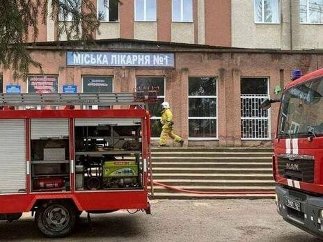Пожар произошел на втором этаже больницы