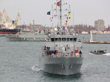Руководство группы НАТО отметило, что главная цель их визита увеличение совместимости с кораблями ВМС ВС Украины