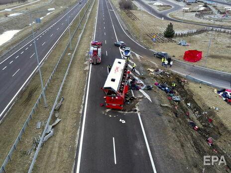 Умер еще один пассажир украинского автобуса, который попал в ДТП в Польше в марте