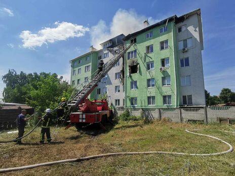 В 16.28 пожар удалось локализовать