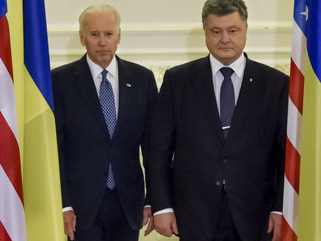 Порошенко обсудил сБайденом минские соглашения иреформы вгосударстве Украина