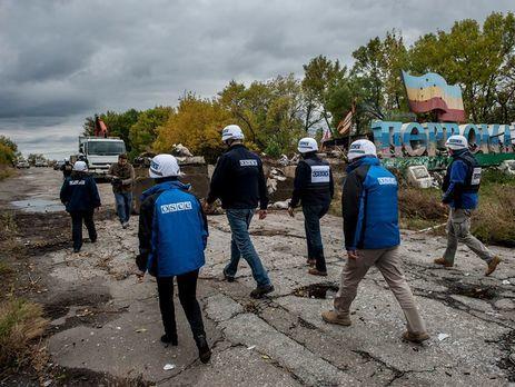 Наблюдатели ОБСЕ снова непопали взону разведения сил вДонбассе