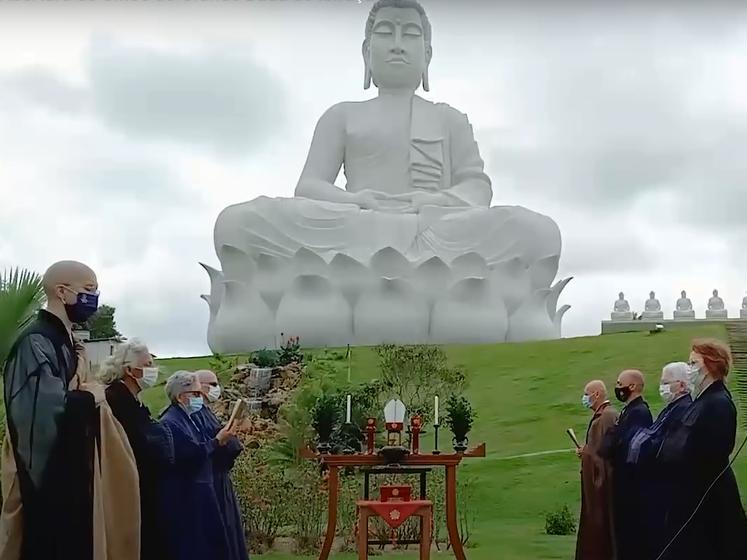 В Бразилии открыли самую большую статую Будды, она выше монумента Христа в Рио. Видео