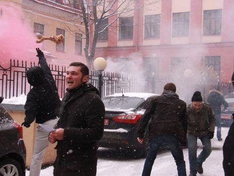 Консульство Украины в северной столице забросали костями