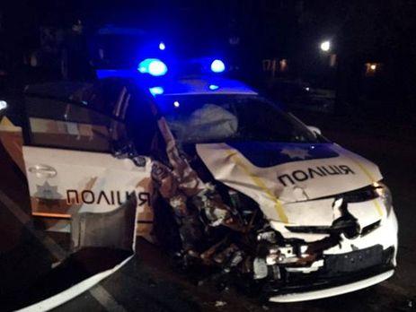 ВХмельницком вДТП авто патрульной милиции столкнулось стакси