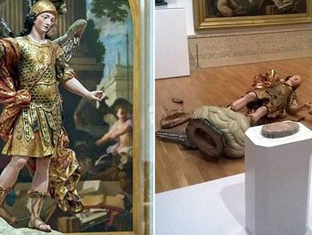 Турист разбил статую XVIII века при попытке сделать селфи вмузее Лиссабона