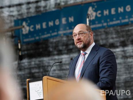 Шульц: Европарламент готов квведению безвиза сУкраиной