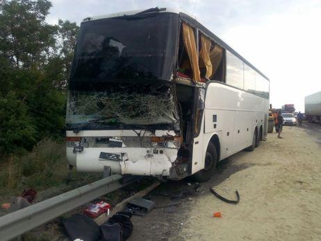 В РФ 5 украинцев пострадали вДТП савтобусом