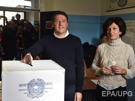 Нареферендуме вИталии лидируют противники конституционной реформы