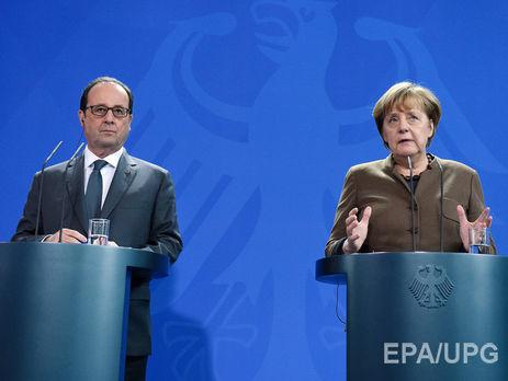 Ангела Меркель иФрансуа Олланд поддержали продление санкций против РФ