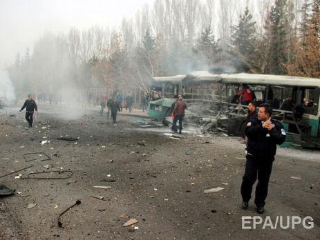 Размещено видео сместа взрыва автобуса вТурции