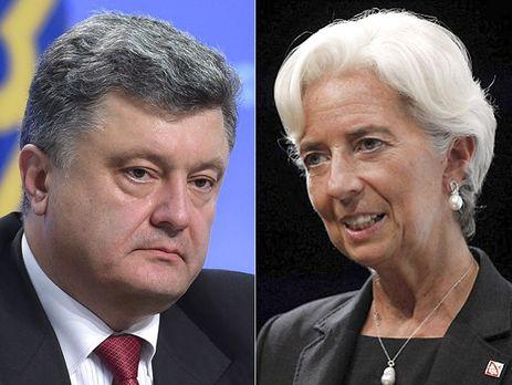 Порошенко и руководитель МВФ Лагард договорились овстрече всередине зимы 2017г