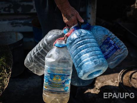 Наряд фильтровальных станций Донбасса остановлена подача воды