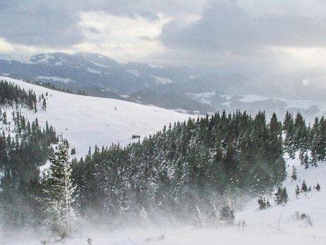 ВЗакарпатье сошли три снежные лавины, 4 автомобиля заблокированы
