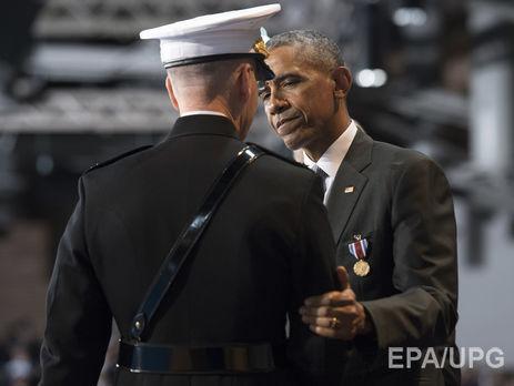 Обама впоследний раз встретился свооруженными силами США вкачестве президента