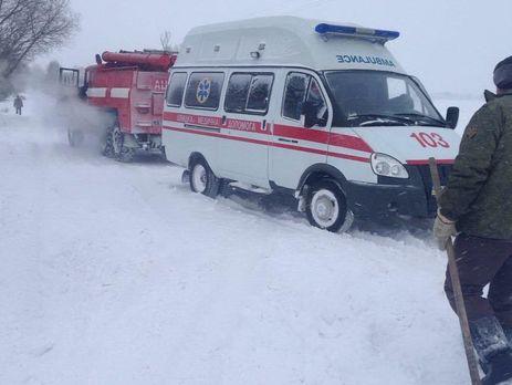 ВОдесской области около 60 авто угодили вснежную ловушку