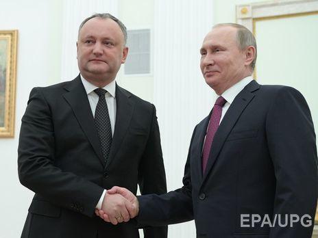 Путин ипрезидент Молдавии Додон обсудят Приднестровье 17января