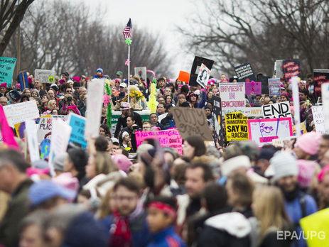 Неменее 1 млн человек участвовали вакциях протеста против Трампа