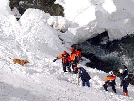 Одиннадцать туристов попали под лавину вХибинах, троих ищут cотрудники экстренных служб