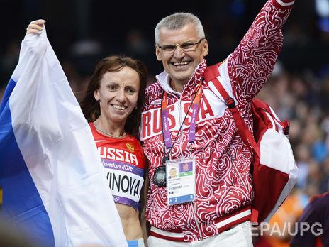 Казарин со своей воспитанницей Марией Савиновой которая также подозревается в применении допинега