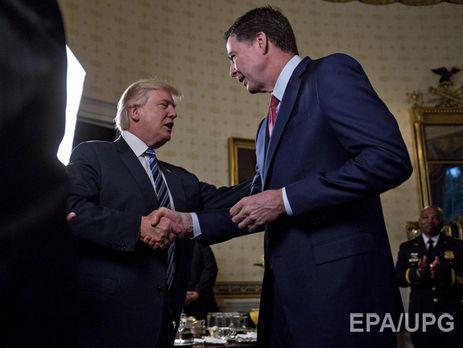 Трамп попросил Коми остаться напосту руководителя ФБР