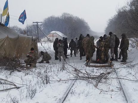 Железная дорога Луганск— Попасная заблокирована ветеранами АТО— Семенченко