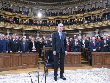 А.Ван дер Беллен вступил вдолжность президента Австрии