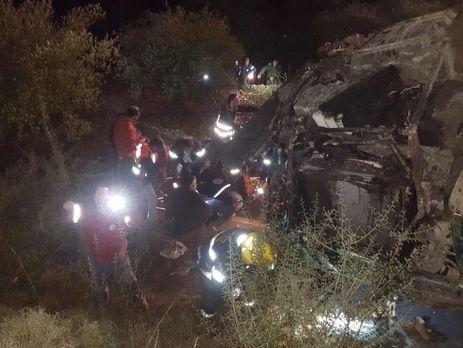 ВИзраиле при падении автобуса собрыва погибли два человека