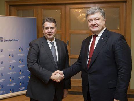 Порошенко обсудил сглавой МИД ФРГ ситуацию вДонбассе иантироссийские санкции