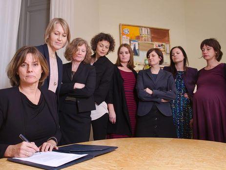 Женщины изшведского руководства спародировали фото Трампа