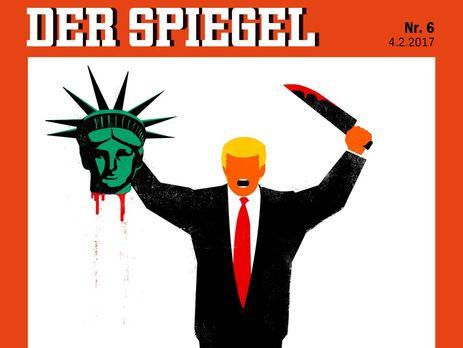 Наобложке Spiegel Трамп вобразе боевика «обезглавил» статую Свободы