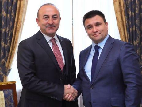 Порошенко встретился сминистром иностранных дел Турции