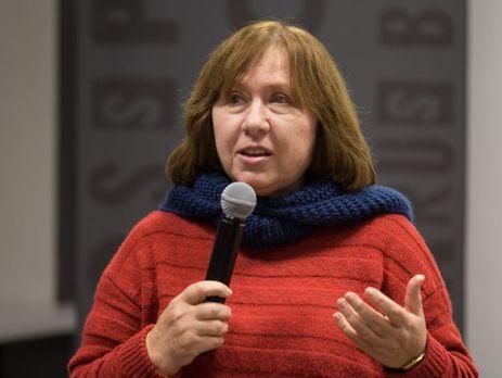 Нобелевская лауреатка Алексиевич отреагировала назадержание Жадана вМинске