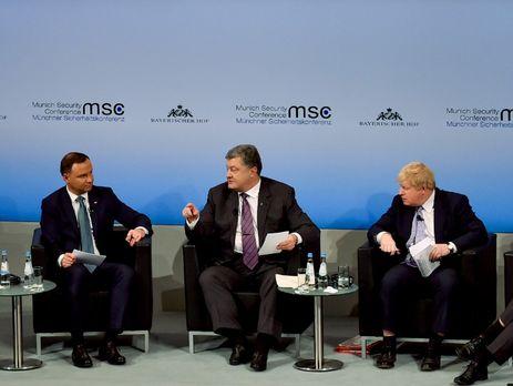 Порошенко побеседовал сДудой о«Минске», санкциях ипримирении народов